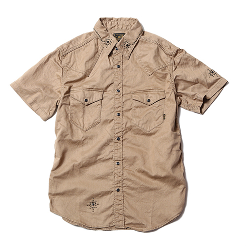 S/S TWILL STUDS WESTERN SHIRT ★30%OFF★