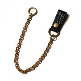 EMBOSSING LEATHER WALLET CHAIN