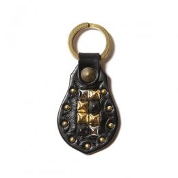 LEATHER STUDS KEY HOLDER