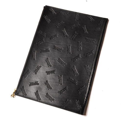 ALLOVER EMBOSSING LEATHER CLUTCH BAG