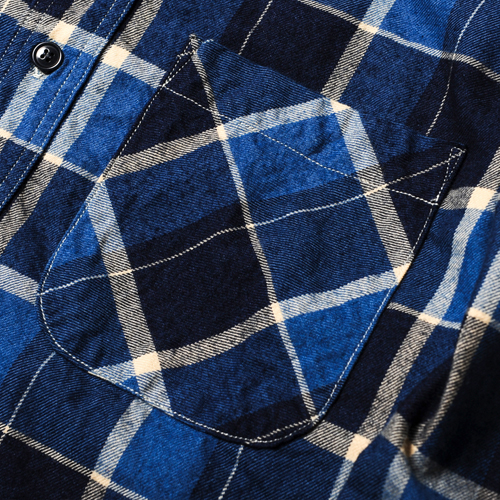 L/S INDIGO CHECK SHIRT