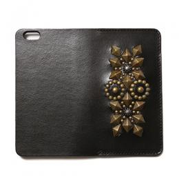 LEATHER GEOMETRIC STUDS iPHONE CASE [16ST124]
