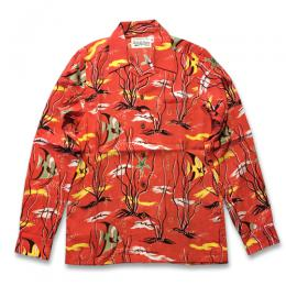 TROPICAL FISH L/S HAWAIIAN SHIRT