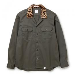 "L/S LEOPARD COLLAR WORK SHIRT ""BOB"""