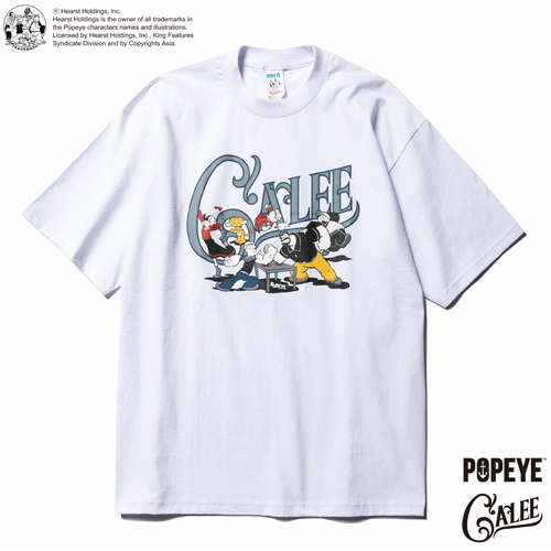 CALEE × POPEYE COLLABORATION PRINT T-SHIRT