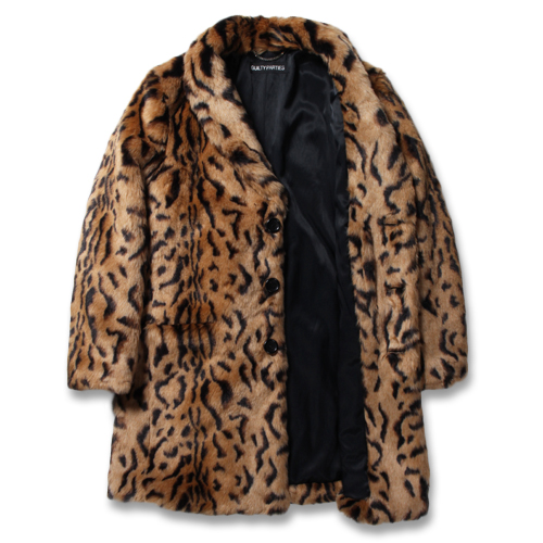 LEOPARD FUR CHESTERFIELD COAT