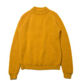 Mock Neck Rib Knit