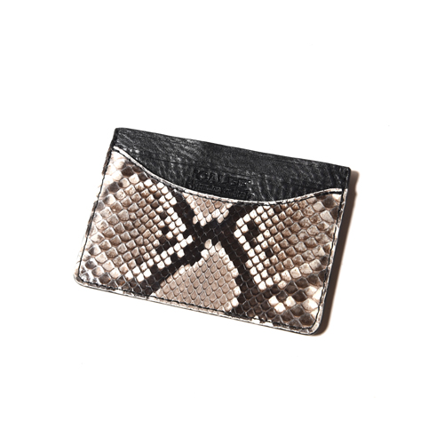 PYTHON LEATHER CARD CASE ★30% OFF★