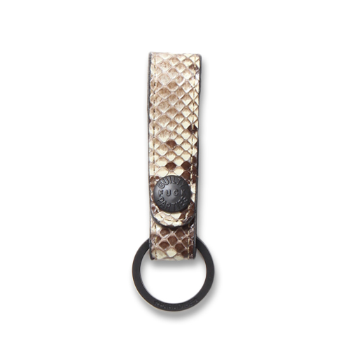 PYTHON LEATHER KEY HOLDER (FUCK GUILTY PARTIES)