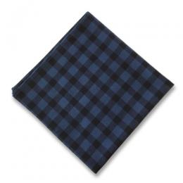 INDIGO CHECK  POCKET CHEEF