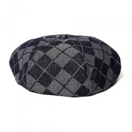 ARGYLE DENIM BERET [17AW010]