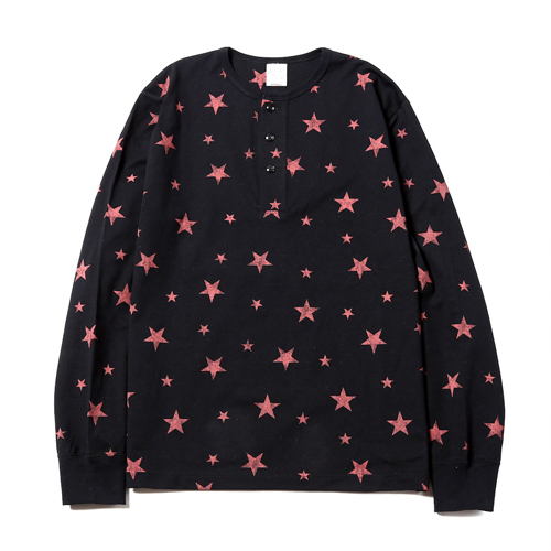 L/S ALLOVER PRINT HENRY NECK T-SHIRT [17AW014]
