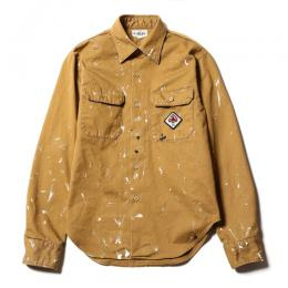 USED PAINTING L/S WORK SHIRT [17AW019]