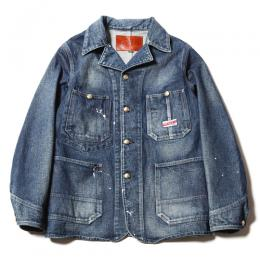 USED DENIM COVERALL JACKET [17AW020]