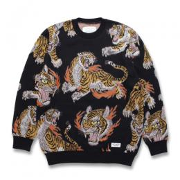 TIM LEHI / JACQUARD CREW NECK SWEATER