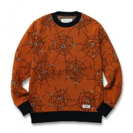"""ATOMIC SPIDER"" JACQUARD SWEATER"