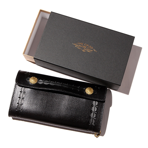 EMBOSSING LEATHER FLAP LONG WALLET [17AW1002]
