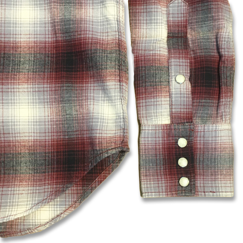 OMBRE CHECK WESTERN SHIRT ★30%OFF★