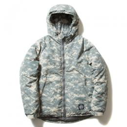 Digital Camouflage Padded Zip Parka