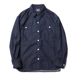 BIG SIZE L/S DENIM SHIRT