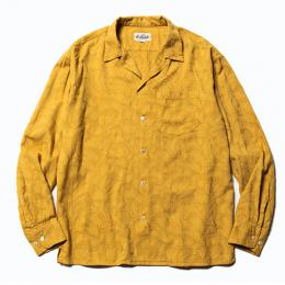 JACQUARD FEATHER PATTERN L/S SHIRT