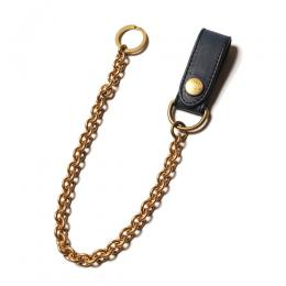 INDIGO LEATHER WALLET CHAIN