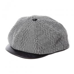 TWEED / LEATHER CASQUETTE [17AW055]