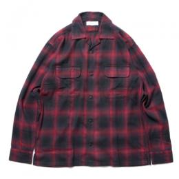 Check Open Collar LS Shirt