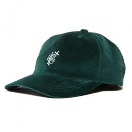 Velour Curved Brim 6 Panel Cap