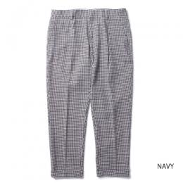 GINGHAM CHECK PLEATED TROUSERS