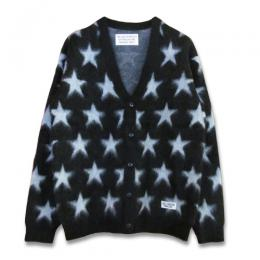 STAR MOHAIR KNIT CARDIGAN