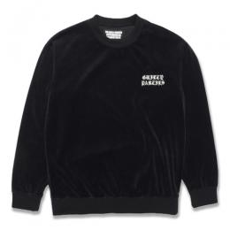 VELOUR CREW NECK SWEAT SHIRT
