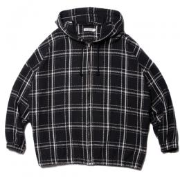 Blancket Check Oversized Zip Parka
