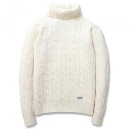 TURTLE NECK CABLE SWEATER