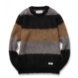 MOHAIR STRIPED JACQUARD SWEATER