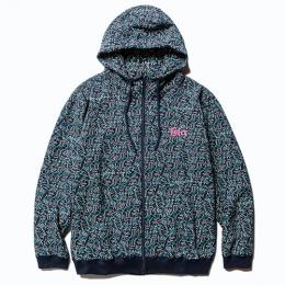 ALLOVER PRINT HIGH NECK ZIP PARKA