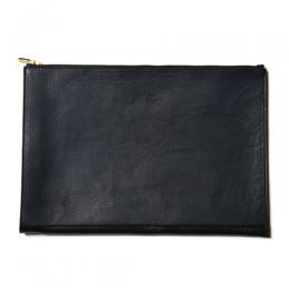 INDIGO LEATHER CLUTCH BAG