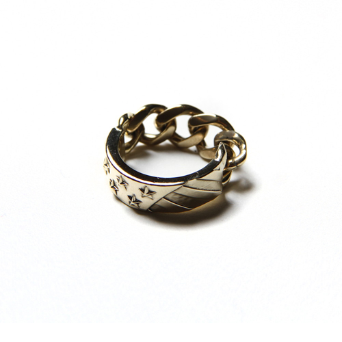 THE STARS AND STRIPES CHAIN RING <BRAS [17AW052AC]