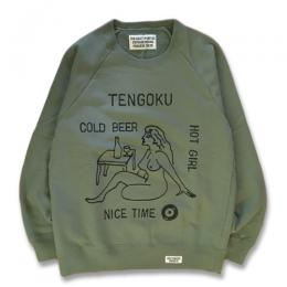 WASHED HEAVY WEIGHT CREW NECK SWEAT SHIRT (TYPE-5)