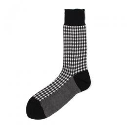 GINGHAM CHECK JACQUARD SOCKS