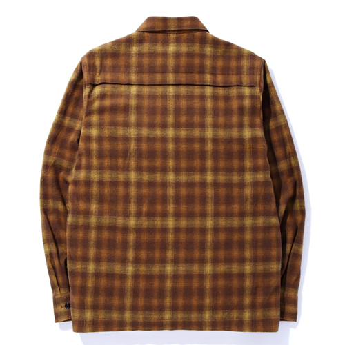 L/S CHECKFLANNEL ZIP UP SHIRT