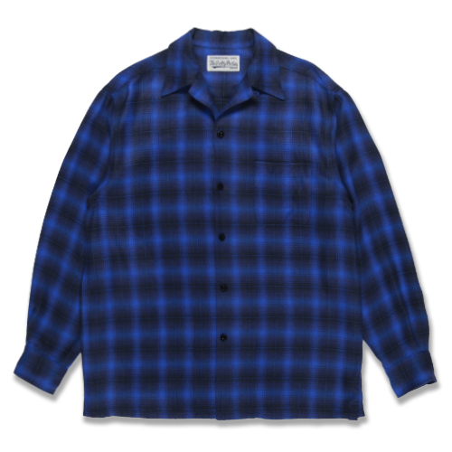 OMBRAY CHECK OPEN COLLAR SHIRT (TYPE-3)