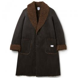"SHAWL COLLAR SUEDE MOUTON COAT ""HOLMAN"" ★30% OFF★"