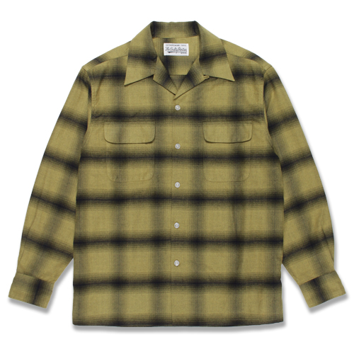 OMBRAY CHECK OPEN COLLAR SHIRT (TYPE-1)