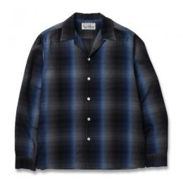 60'S OMBRAY CHECK OPEN COLLAR SHIRT (TYPE-1)