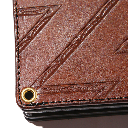 EMBOSSING LEATHER LONG WALLET