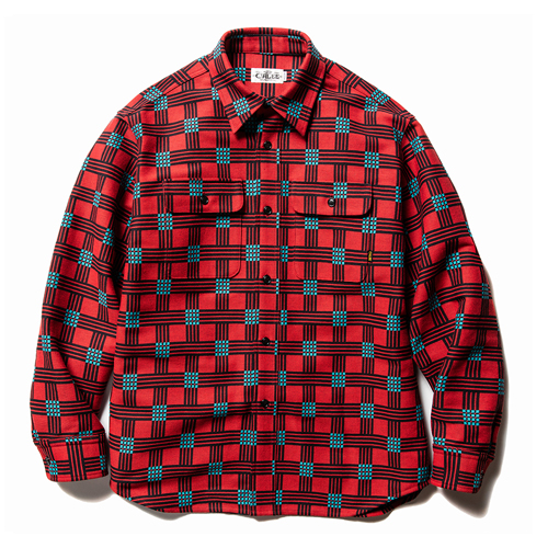 DOUBLE DOBBY L/S CHECK SHIRT