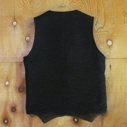 JACQUARD DENIM BOA VEST [16AW041] ★30%OFF★
