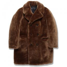 FUR DOUBLE BREASTED COAT