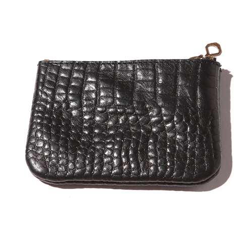 EMBOSSING CROCODILE LEATHER COIN PURSE [16AW125]